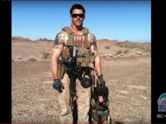 Sgt. Joshua Ashley and his K9 Sirius in Afghanistan